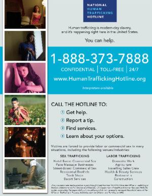 Sex trafficking toll free number